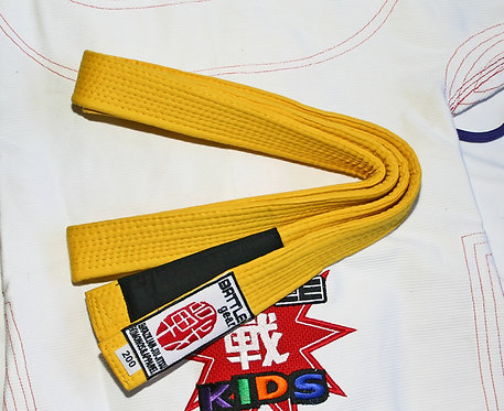Youth BJJ Brazilian Jiu Jitsu Yellow Belt