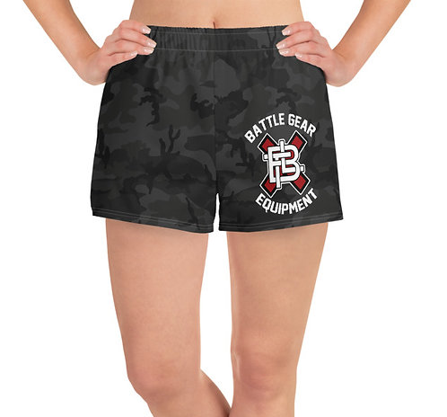 Subdued Black Camo T1 Female Athletic Shorts