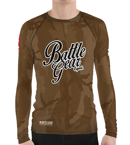 V4 Brown Camouflage Long Sleeve NO GI MMA Rashguard