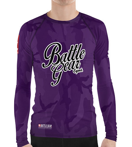 V4 Purple Camouflage Long Sleeve NO GI MMA Rashguard
