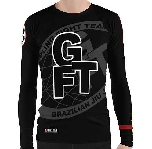 Black Ranked GFTEAM International Long Sleeve NO GI MMA Rashguard