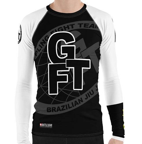 White Ranked GFTEAM International Long Sleeve NO GI MMA Rashguard