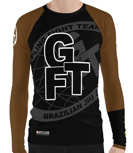 Brown Ranked GFTEAM International Long Sleeve NO GI MMA Rashguard