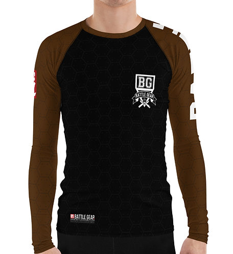 V3 Brown Long Sleeve NO GI / MMA Rashguard