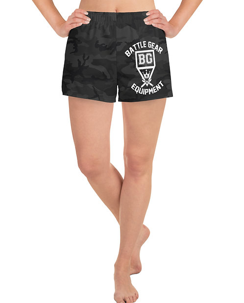 Subdued Black Camo T1 Female Athletic Shorts