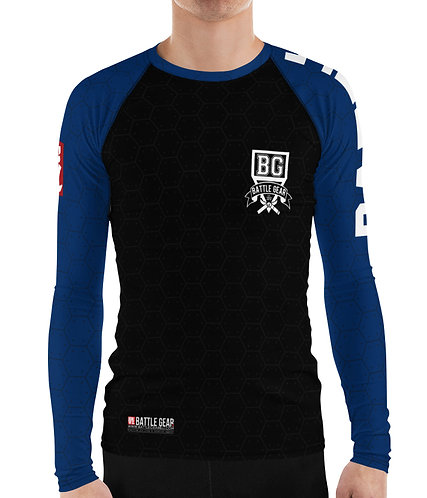 V3 Blue Long Sleeve NO GI / MMA Rashguard