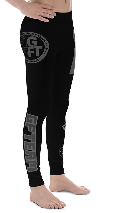 GFTEAM Black/Grey Male NO GI MMA Spats Leggings