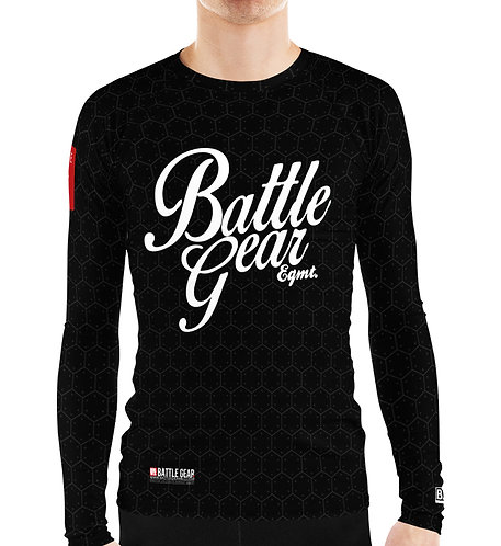 Battle Gear Fundamental Black Long Sleeve NO GI MMA Rashguard