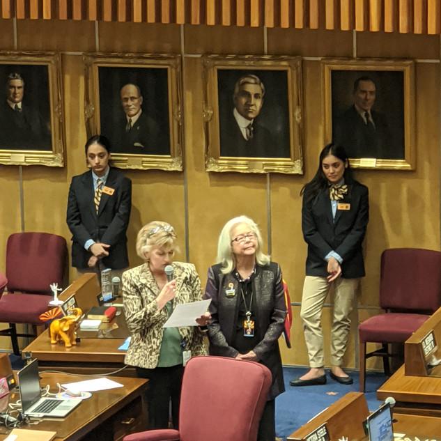 Senators Brophy McGee and Alston introducing AZGA