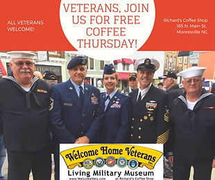 Free Coffee for Veterans at Richards Coffee Shop