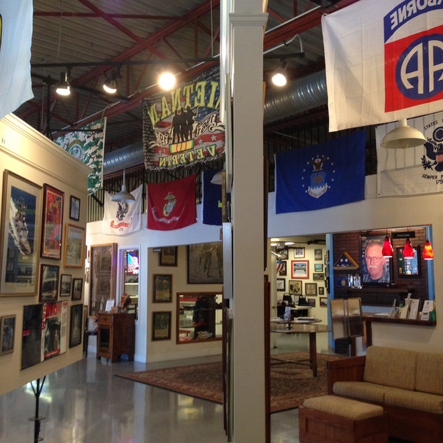Welcome Home Veterans Living Military Museum at Richards Coffee Shop