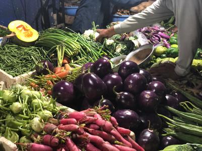 Fresh vegatables at the market