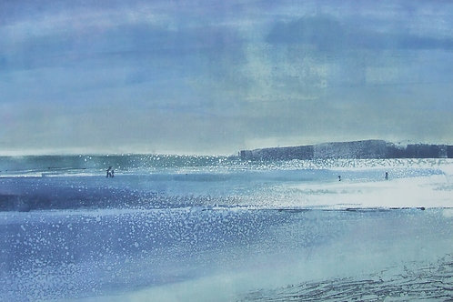 'Blue Light' monoprint