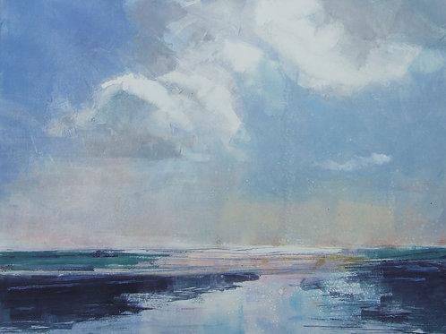 'Sea Clouds' monoprint