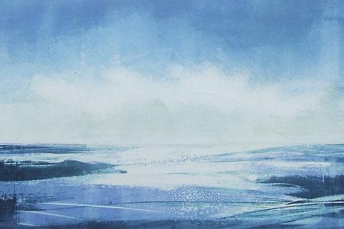 'Into the Blue' monoprint