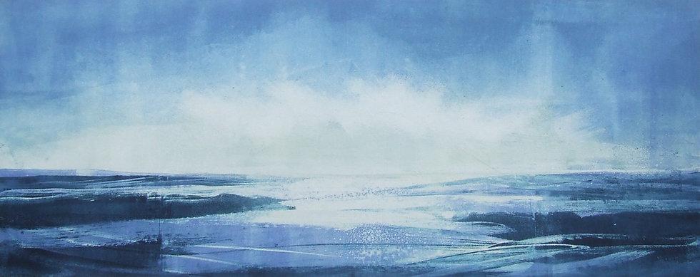 'Into the Blue' monoprint (18x48cm image, 33.5x64cm framed) £280.JPG