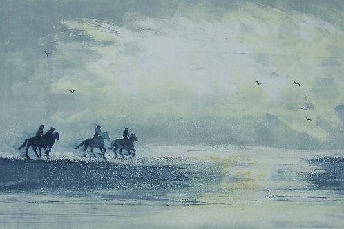 'Riders on the Storm' monoprint