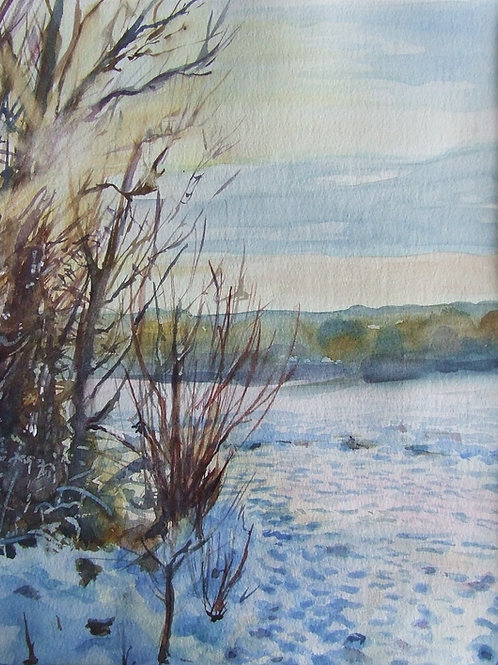 'Before the Thaw' watercolour
