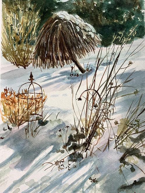 'Snow Garden' watercolour