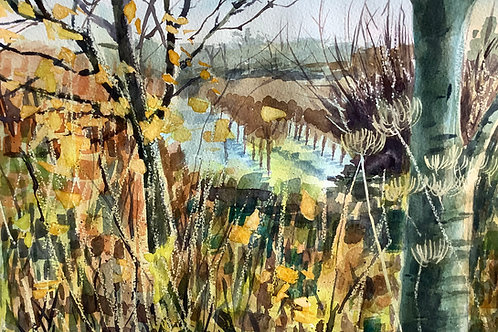 'Frost in the Orchard' watercolour
