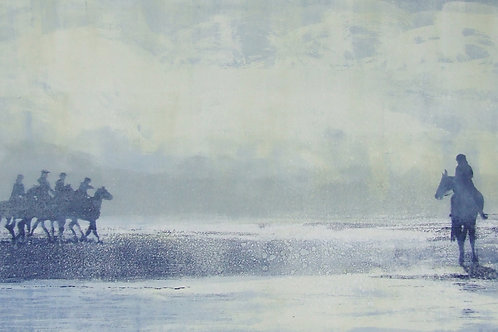 'On Your Marks' monoprint
