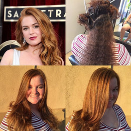 Love hair transformations! Thank you to my guest _ajones9 I had fun transforming your hair! 😄🤗#redhead #naturallycurly #longhair #longlayers