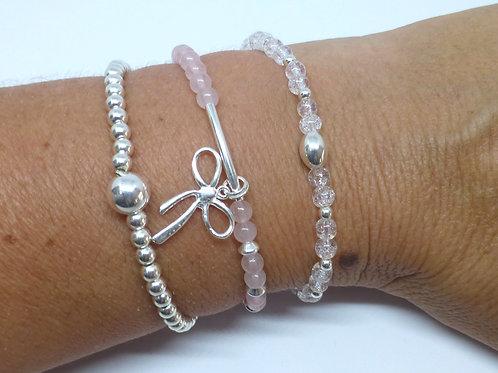 Composition 3 bracelets argent 925  (n°13)