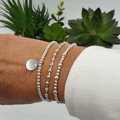 Composition de 3 bracelets en argent