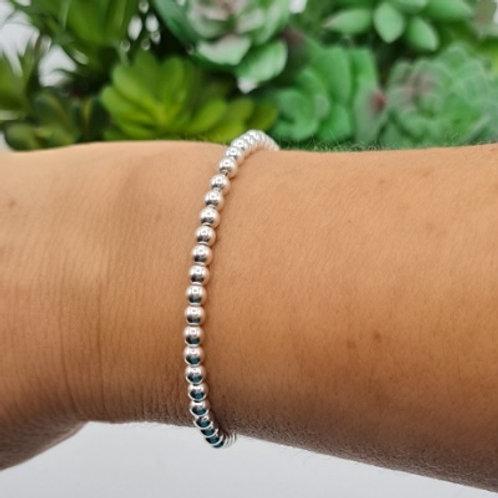 Bracelet de perles en argent