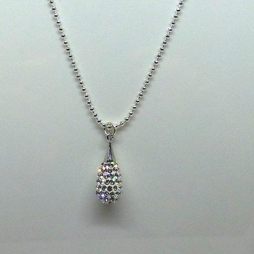 Collier en argent 925 et perles cristal Swarovski