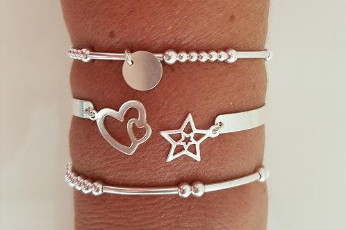 Composition 3 bracelets argent 925  (n°50)