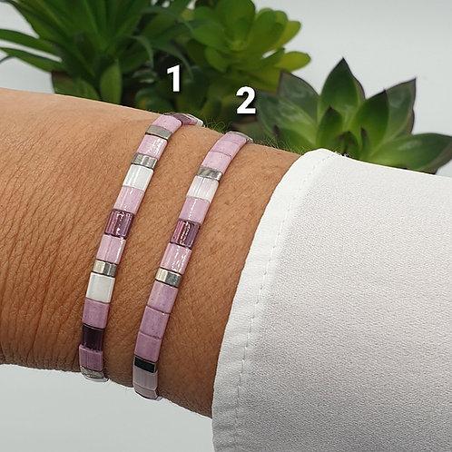 Bracelet en perles Miyuki rose
