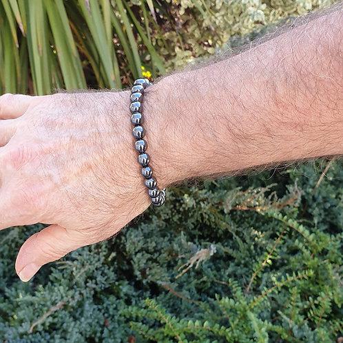 Bracelet homme hématite