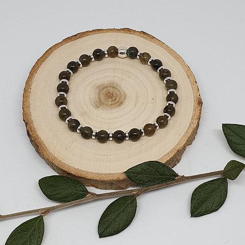 Bracelet perles labradorite et argent 925
