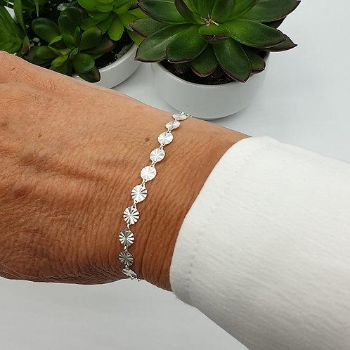 Bracelet en argent 925 avec petits soleils