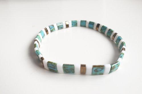 Bracelet élastique en perles de verre Miyuki