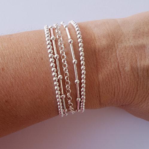 Bracelet multi-rangs (5 rangs) en argent 925