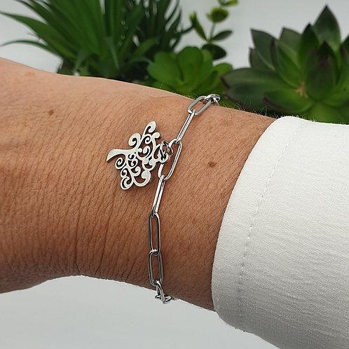 "Bracelet en acier inoxydable ""arbre de vie"""