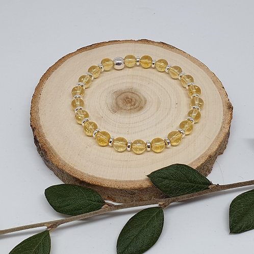 Bracelet citrine et argent 925