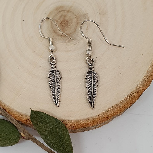 Boucles d'oreilles en argent 925 plumes