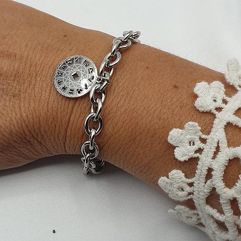 """Bracelet en acier inoxydable """"zodiaque"""""""