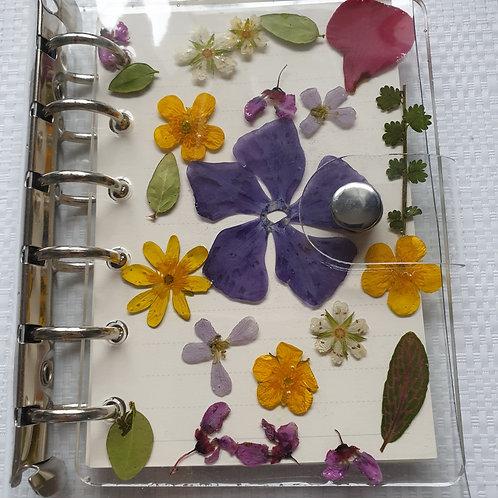 Carnet ou bloc notes format A7 résine et fleurs naturelles