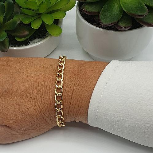 Bracelet en aluminium doré