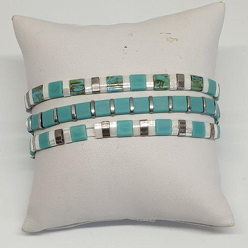 Composition de 3 bracelets en perles Miyuki