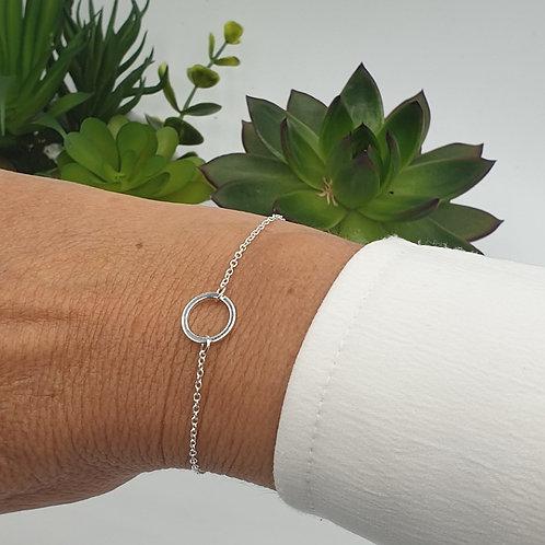 """Bracelet acier inoxydable doré ou argenté """"cercle"""""""