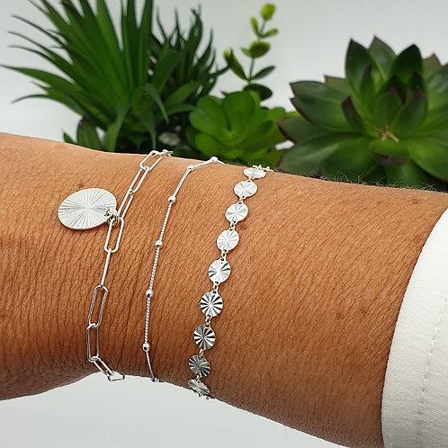 Combo de 3 bracelets en argent 925
