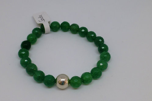 Bracelet en perles de jade et argent 925