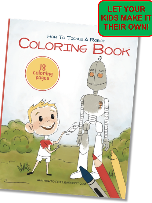 Coloring Book | How To Tickle A Robot