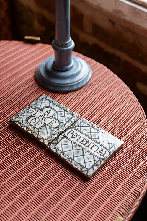 'A Space of Potential' tile set by Rachael House