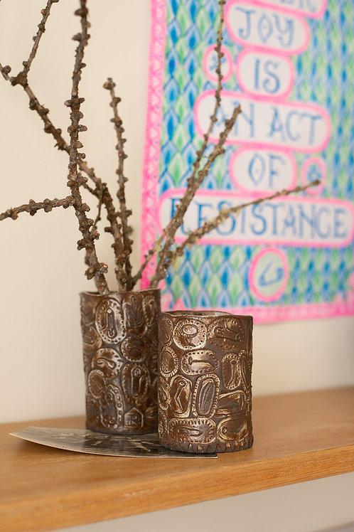 Apotropaic beakers by Rachael House